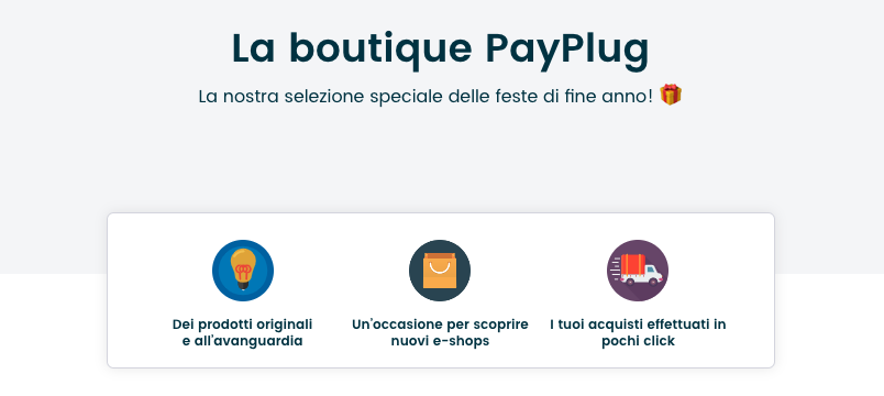 La boutique PayPlug