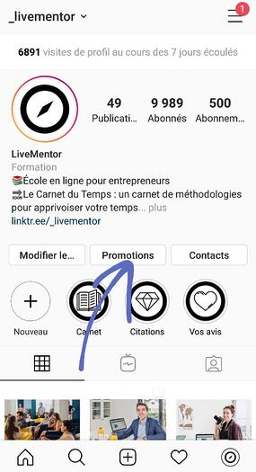 Instagram ads Livementor