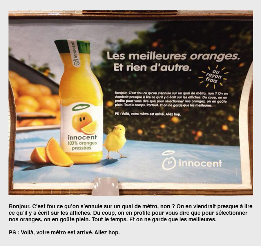Publicité Innocent