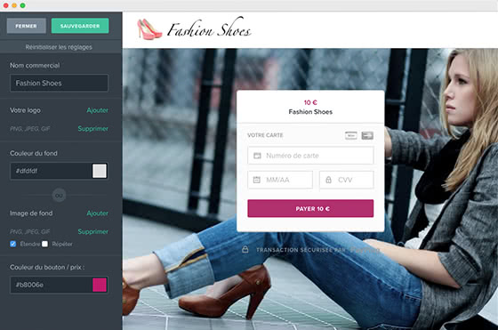 Customize your payment page